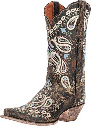 Dan Post Womens Chocolate Fashion Boots Leather Cowboy Boots Snip Toe 8.5 M
