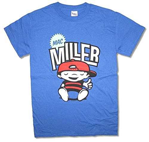Mac Miller Chillin Comic Cartoon Most Dope Blue T Shirt - Apparel Miller Mac