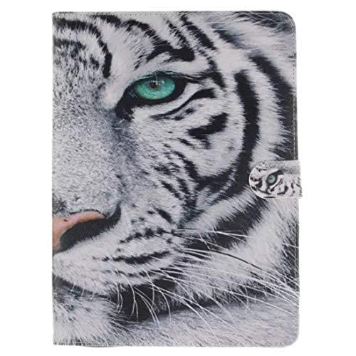 Maoerdo Galaxy Tab S2 9.7 Case,Folio PU Leather Case Wallet Cover Auto Sleep/Wake [Card Slots] Samsung Galaxy Tab S2 9.7 Inch SM-T810 / T815,(The White Tiger) (Batman Samsung Galaxy Case S2)