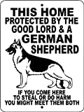 "GERMAN SHEPHERD Guard Dog 9""x12"" ALUMINUM ""ANIMALZRULE ORIGINAL DESIGN - ""NO ONE ELSE IS AUTH0RIZED TO SELL THIS SIGN"" (Any one else selling this sign is selling a CHEAP COPY)"