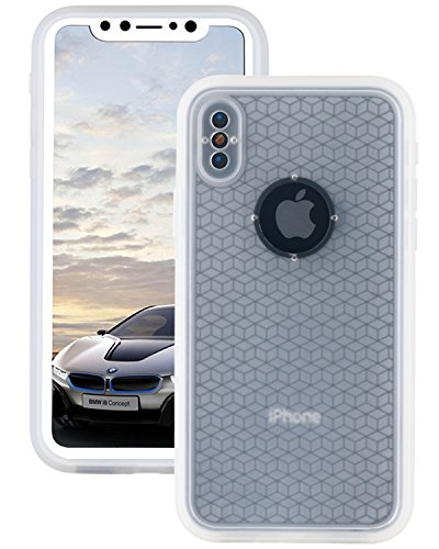 Lontect Compatible iPhone XS Waterproof Case Slim Thin Light Dirt/Dust Proof Snowproof Shockproof Case Full Body Underwater Protective Cover for Apple iPhone XS/iPhone X 5.8- Clear