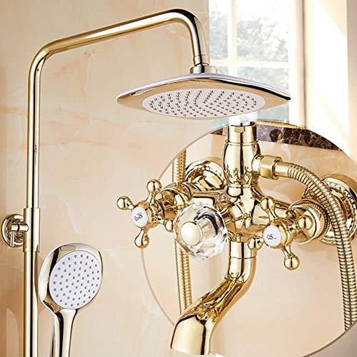 l lei shop Stainless Steel rain Shower Set, Gold Shower Copper Faucet, Shower Set, Shower System, Shower, Shower Faucet, Bathroom Faucet, Thermostatic Bathroom Set
