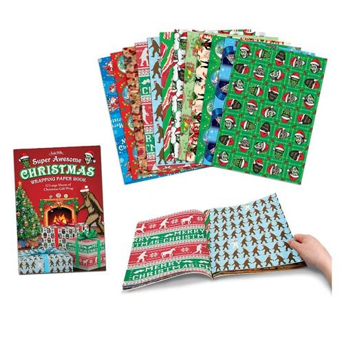 Accoutrements Super Awesome Christmas Wrapping Paper (Funny Halloween Pranks Ever)