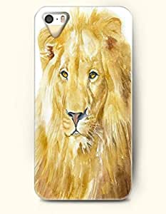 Phone Case For iPhone 5 5S Yellow Lion - Hard Back Plastic Case / Oil Painting / OOFIT Authentic