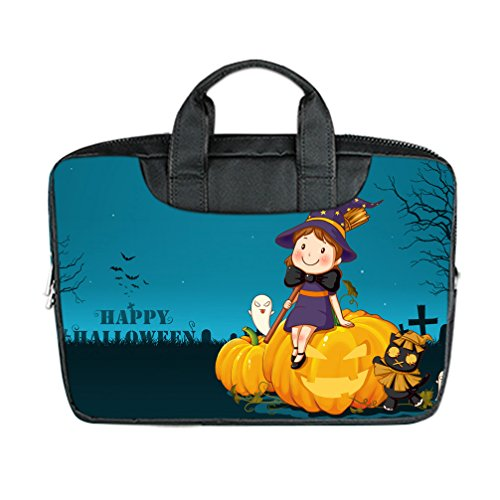 [JIUDUIDODO Custom Cool Halloween Evil Jack with Bat Nylon Waterproof Bag Computer Bag Handbag for Laptop 17