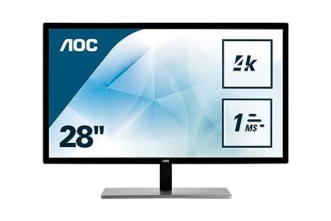 "AOC U2879VF 28""Class LED 4K Monitor 3840x2160, 300cd/m2, 10Bit Color,  FreeSync, VGA, DVI, HDMI, DP"