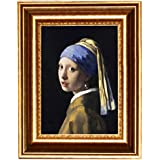 """Eliteart-Girl with a Pearl Earring By Johannes Vermeer Giclee Framed Art Canvas Prints-Framed Size:13x16 1/2"""""""