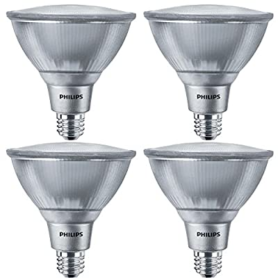 Philips LED PAR38 Dimmable 1200-Lumen, 5000-Kelvin, 16-Watt (120 V)(120-Watt Replacement) Indoor/Outdoor Flood Light Bulb, E26 Medium Base, Daylight, 4-Pack