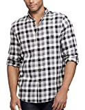 Chaps Men's Button-Down Performance Flannel, Big & Tall (Combat Gray, 2X-Large Tall)