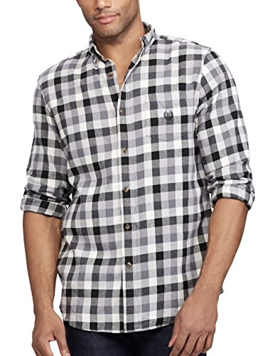Chaps Men's Button-Down Performance Flannel, Big & Tall (Combat Gray, 4X-Large Big)