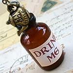 Alice in Wonderland Tea Party Necklace-Drink me Bottle 5