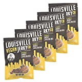 Louisville Vegan Jerky - Smokey Carolina BBQ, Protein Source for Vegans and Vegetarians, 12 Grams of Non-GMO Soy Protein, Gluten-Free Ingredients (Pack of 5, 3 Ounces)