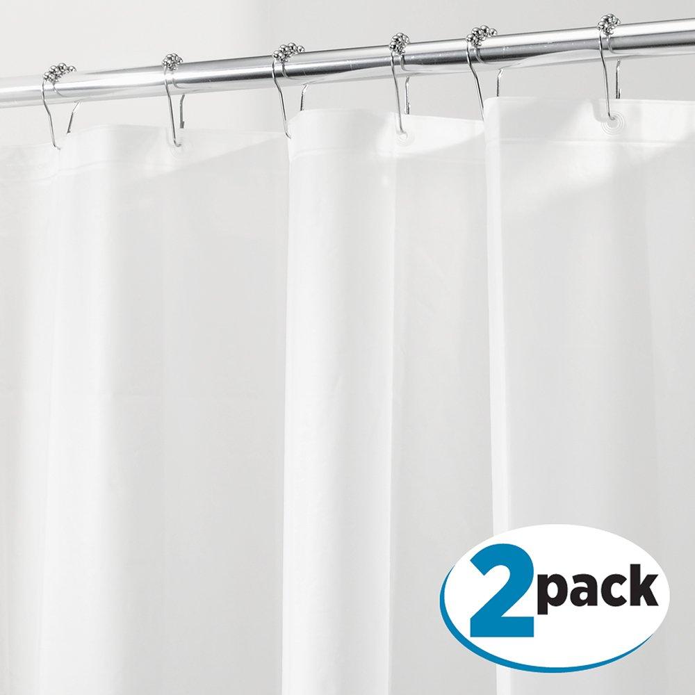"""MDesign PEVA 3G Shower Curtain Liner, 72"""" X PACK Of 2"""