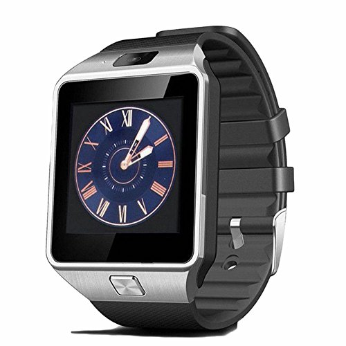 Bluetooth Smart Watch,Touch Screen Smart Wrist Watch Smartwatch with SIM Card Slot Camera Sport Tracker for IOS iPhone Android Samsung LG Smartphones (Silver) by Pettstore