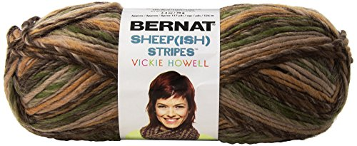 (Spinrite Vickie Howell Sheep-ish Stripes Yarn, Earth-ish)