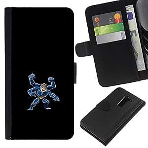 YiPhone /// Tirón de la caja Cartera de cuero con ranuras para tarjetas - Machamp P0kemon - LG G2 D800