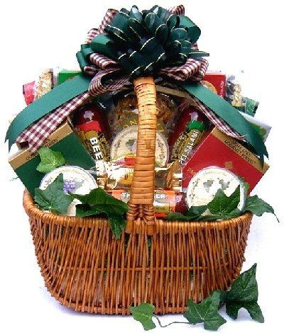 Meat & Cheese Gourmet Food Christmas Holiday Gift Basket - - Christmas Gifts Hampers