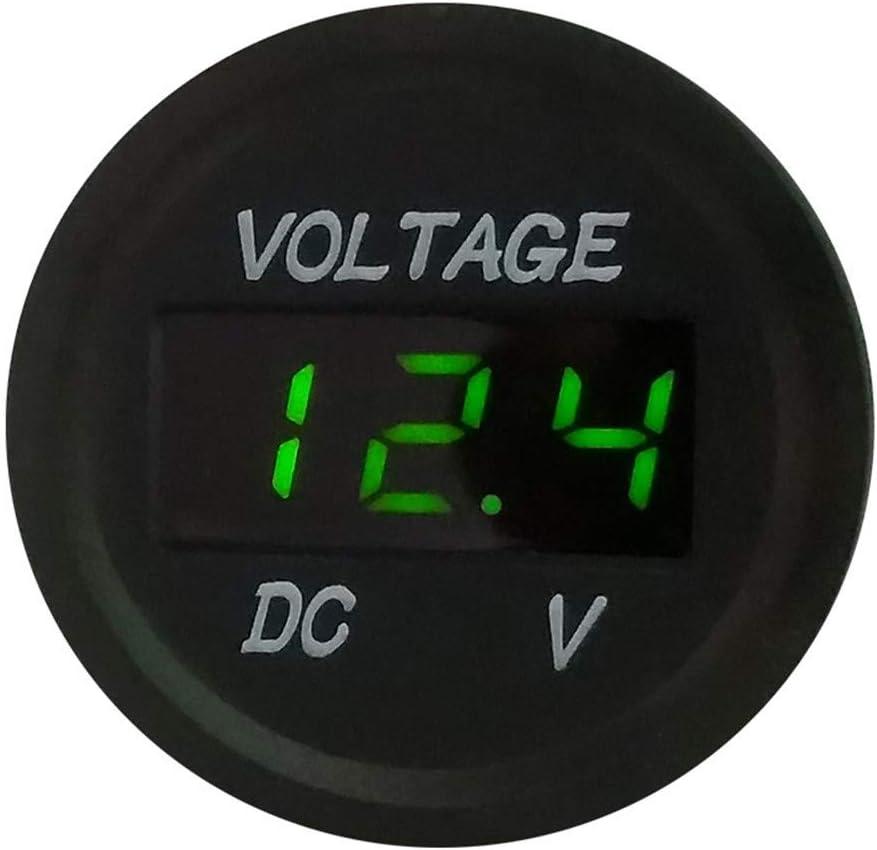 LED Panneau Num/érique Volt Voltm/ètre Testeur Moniteur Affichage Voltm/ètre Orange MerryDate Automobile Moto Bateau DC5V-48V Voltm/ètre num/érique