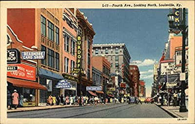 Fourth Avenue, Looking North Louisville, Kentucky Original Vintage Postcard