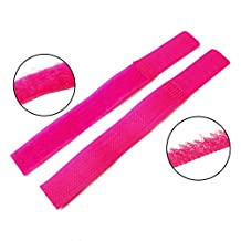 25pcs 25pcs/pack Colorful Reusable Nylon Velcro Cable Ties Hook&Loop Magic Tape Stickers (Pink)