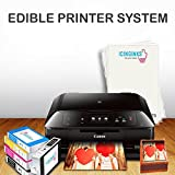 Canon Edible Printer Bundle - Cake Printer With Refillable Edible Cartridges, 12 Frosting