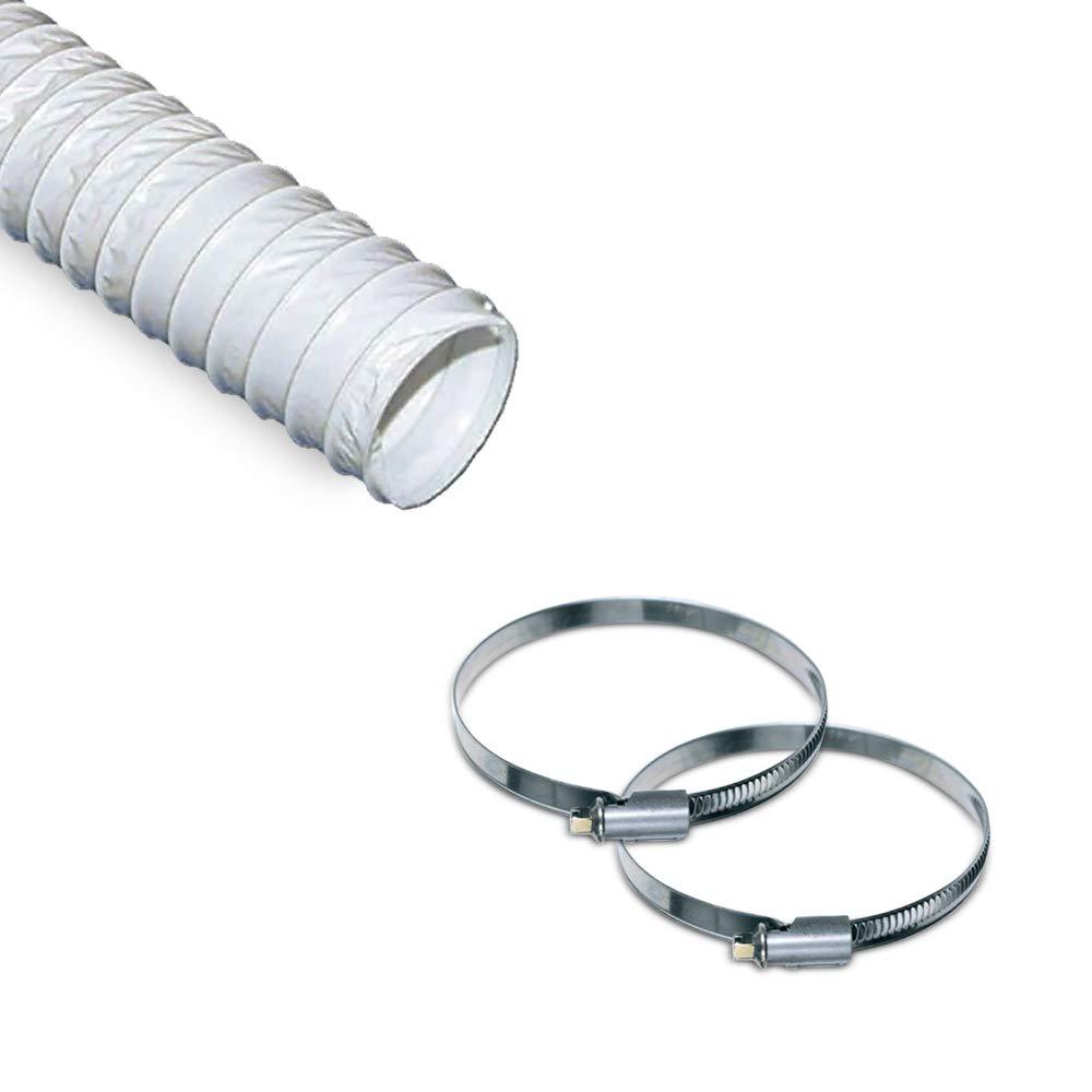 VIOKS Abluftschlauch 4 Meter / 100mm PVC Schlauch Flexibel für Klimaanlage, Abzugshaube, Wäschetrockner Wäschetrockner