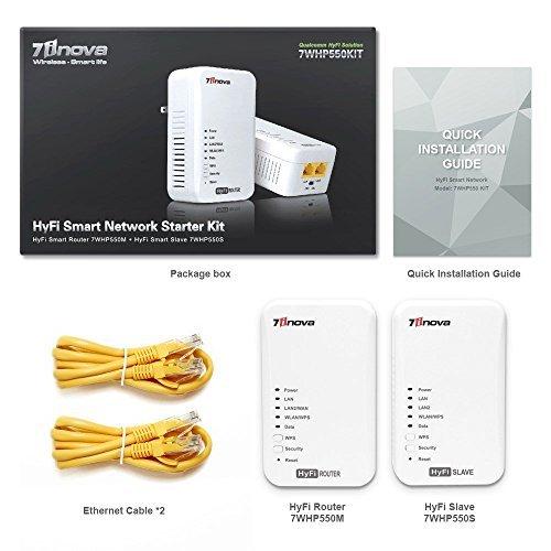 7inova AV500 Ethernet Powerline Router Adapter With N300 Internet Bridge Extender, Twin Wifi Kit by 7INOVA (Image #5)