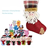 Image of SHOBO Finger Puppets Set Including 10 Animals Plus 6 People Family Member Finger Puppets for Toddlers Baby Kids for Story Time, Shows, Playtime, Schools