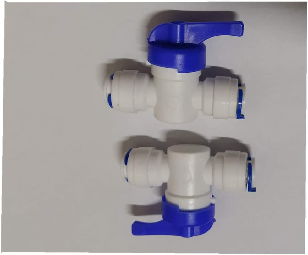 /¡/ 3//8 OD Inline Shutoff Ball Valve CUIWEI 3//8 OD Quick Connect Push in to Connect Water Tube Fitting