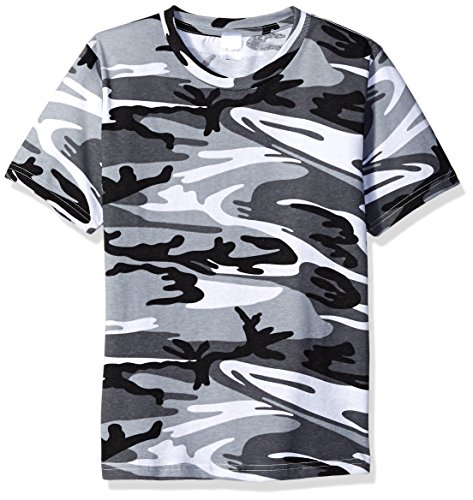 - Clementine Big Boys' Outdoor Camouflage T-Shirt, Urban Woodland, L