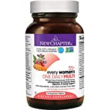 New Chapter Multivitamin for Women 50 plus – Every Woman's One Daily 55+ with Fermented Probiotics + Whole Foods + Astaxanthin + Organic Non-GMO Ingredients – 72 ct (Packaging May Vary)