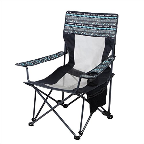 re Folding Chair Recliner Portable Siesta Bed Chair Wild Folding Chair Relax Comfortable Family Outdoor Travel (Size : A) ()