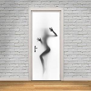 Door stickers, Hatop Sexy Woman Silhouette Beauty Decor Wall Mural Vinyl Art Door stickers
