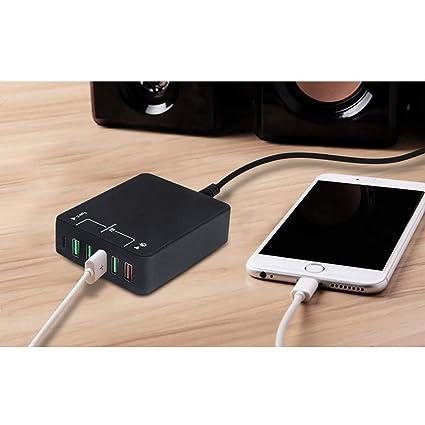 Hihey Universal Multi Port Cargador USB Tipo C Carga rápida ...