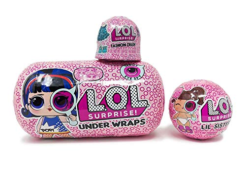 L.O.L. Surprise Under Wraps Eye Spy Series 4.1 Bundle with Lil Sister and Fashion Crush.
