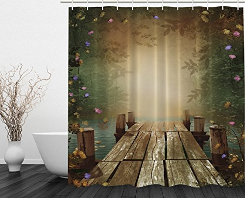 going-away-gifts-fairy-tale-wooden-floating-dock-imaginary-world-lilac-purple-yellow-pink-roses-whim