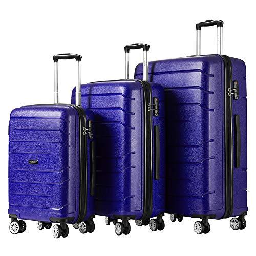 Luggage Sets Hard Suitcase Set Suitcases 3 Piece Set with TSA Lock Spinner (Suitcases Hard)