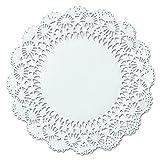 Hoffmaster 500238 10'' White Round Cambridge Lace Doily (Case of 1,000)
