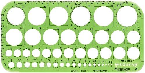 Faber-Castell 172066 - Lochkreisschablone 130 x 240 mm,  grün