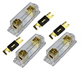 VOODOO (3 pack) 350 Amp ANL Fuse - Gold Holder 1/0 0 gauge no terminals needed