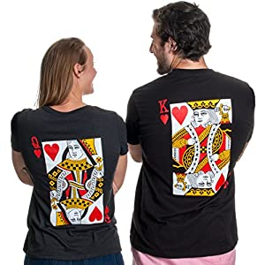 King/Queen | Matching Couples Husband Wife Bridal Wedding Newlywed T-Shirts