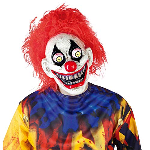 Haunted House – The Clown Mask with Moveable Eyes, Multi-Colour (Rubies S5144)