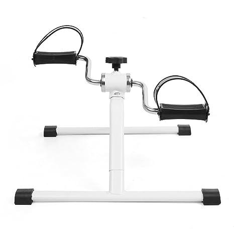 FEMOR Pedales Portátiles Ejercitador de Brazos y Piernas Bicicleta Estática Plegable para Entrenamiento con Consola