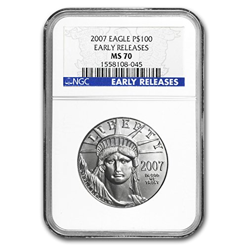 2007 1 oz Platinum American Eagle MS-70 NGC (Early Releases) 1 OZ MS-70 NGC