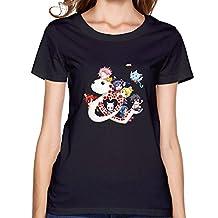 womens Fairy Tail Tshirts Black