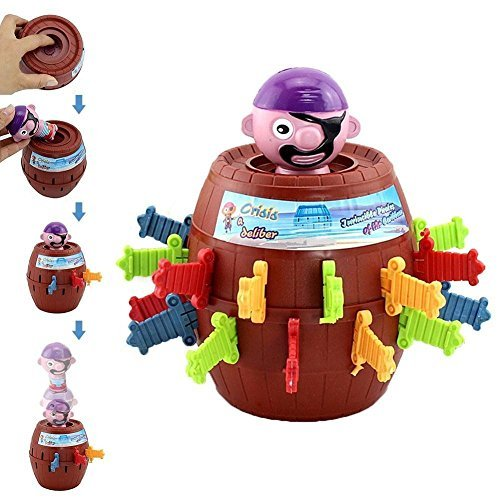 (Pirate Barrel Game - Funny Spoof Adult Kids Pirate Bucket Tricky Toy Party Game)