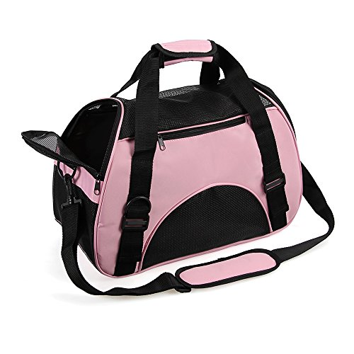 Portable Pet Carrier Airline Approved - Travel Pet Carrier with Bottom Cushion Pad Cat Carrier Puppy Carrier Under Seat Cat in a Bag Carrier Soft Sided Pet Carrier for Small Dog, Kitten, Rabbit, Cat