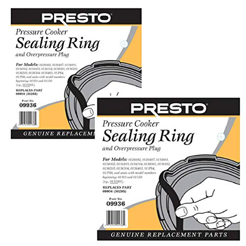 Presto 09936 Pressure Cooker Sealing Ring 2 packs (Maitres Pressure Cooker Parts)
