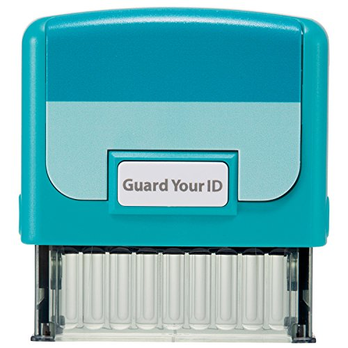 "Identity Theft Prevention Confidential Security Stamp 2.25"" x 0.75"