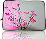 """Sparse Floral Flowers Pink Laptop Sleeve/Case, Fit Apple Macbook 13"""" and 13 - 14 Inch Notebook Laptop Apple, Acer, Dell, Sony"""